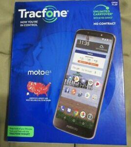 "Motorola Moto e5 5.7""16GB TracFone prepaid Android Smartphone w/bonus New/Sealed"
