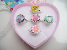 Peppa pig heart 5 ring set