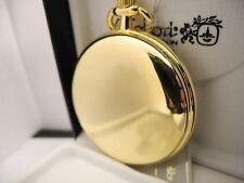 Colibri Swiss Goldtone Black Carbon Fiber Style Face Pocket Watch