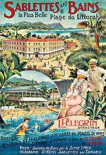 Art Ad Sablettes les Bains  Travel Poster Print