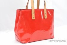 Authentic Louis Vuitton Vernis Reade PM Hand Bag Red LV 54994