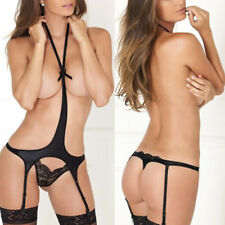 Adult Sex Toy Women Charm Black Crotchless Lingerie Suit Sexual G-string Thongs