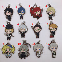 T068 anime Black Butler Book of the Atlantic rubber Keychain Key Ring Rare cute
