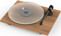 Pro-Ject T1 Turntable -+ Ortofon OM5E Cartridge + Cover - Walnut Record Player