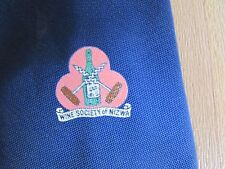 Blue WINE Society of NIZWA Polyester Tie