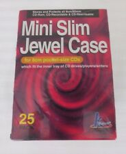 Khypermedia Mini Slim Jewel Case for 8cm pocket-size CDs 25 pack NIB