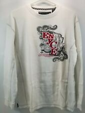 Vintage Men's Enyce Clothing White Cotton Thermal Long Sleeve Shirt - Size XL