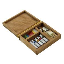 1:12 Dollhouse accessorio miniatura artista vernice penna scatola di legno mod