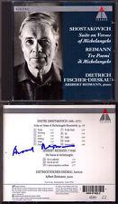 FISCHER-DIESKAU SHOSTAKOVICH Michelangelo Buonarroti Aribert REIMANN Signiert CD