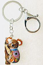Koala Bear Enamel Alloy Key Ring Multicolor Keychain Jewelry