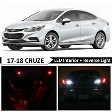 14x Red Interior Reverse Backup LED Light Package Kit for 2017-2018 Chevy Cruze