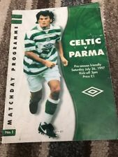 Celtic V Parma 26th July 1997 Pre Season Friendly