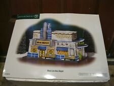 D 56 Department 56 Blue Line Bus Depot Christmas in the City Series New