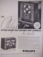 PUBLICITÉ DE PRESSE 1934 LES PHILIPS OCTODE-SUPER RADIO 521U - ADVERTISING