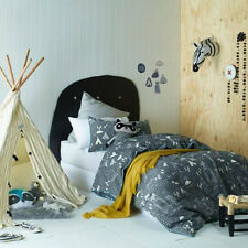 Kids Single Doona Quilt Cover with Pillow Case - In The Woods