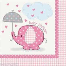 UMBRELLA ELEPHANT GIRL LUNCH NAPKINS (16) ~ Baby Shower Party Supplies Luncheon