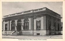 CHESTER SOUTH CAROLINA UNITED STATES POST OFFICE GRAYCRAFT B/W POSTCARD c1950s