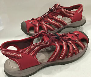 Croft & Barrow Womens Water Shoes Sport Sandals Red Size 8 Excellent Condition