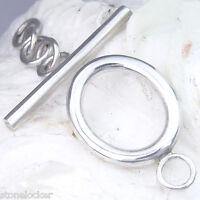 12Stck TG01 Toggle  25mm SILBER 925 Verschluss Kette Armband silver clasp 12pcs