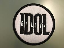 "BILLY IDOL Patch - Embroidered Iron On Patch 3 "" PUNK ROCK"