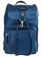 "Zaino THE BRIDGE 100% PELLE Porta Pc 15"" made in Italy donna blu 30x41x11 062909"