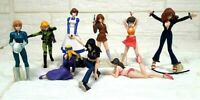LOT OF 9 LUPIN THE THIRD GIRL FUJIKO MINE GASHAPON JAPAN ANIME COLLECTION FIGURE