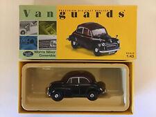 Vanguards VA 05802 Morris Minor Convertible Black & Maroon 1:43 Limited Edition