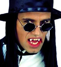 Vampire Lennon Glasses Round Black Silver Smoke Lens Halloween