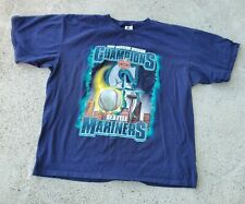 Vintage 1997 Western Division Champions Seattle Mariners Starter Tshirt Tee Fade