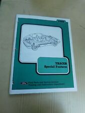 1988 MERCURY TRACER SPECIAL FEATURES DEALERSHIP SHOP SERVICE TRAINING MANUAL