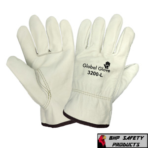 Premium Grade Cowhide Leather Work Gloves Sewn with Dupont Kevlar Fiber 1 Pair