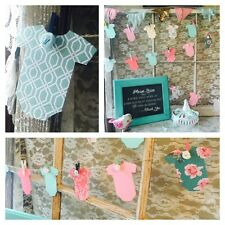 Onezie Advice Cards For A Shabby Chic Vintage Baby Shower Game