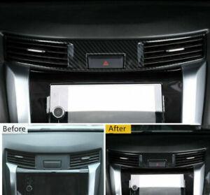 For Nissan Navara NP300 2015-2020 Carbon Black Center Air Outlet Vent Cover Trim