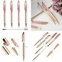 Ballpoint Pen Rose Gold Plate Austrian Crystal Filigree Leaf Luxurious Packaging