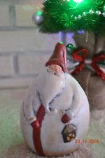 Deko Weihnachtsmann Figur aus Keramik,Bunte ,Dekoration, Weihnachten