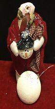 Christmas Melting Plush Snowman Building a Friend Holiday Decor Styrofoam Frosty