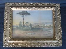 Antique (1869) Watercolor Painting, Signed F.H.M, Titled: Marseilles (Beautiful)