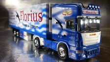 * Herpa 121156 Scania R TL Refrigerated Box Semitrailer Florius 1:87 Scale HO
