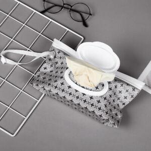 Reusable Baby Wet Wipe EVA Pouch Wipes Holder Cases Refillable Dispenser Bag UK