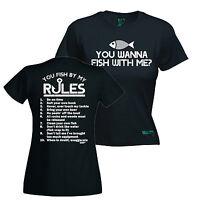 You Wanna Fish With Me ? WOMENS T-SHIRT Fishing Carp Tee Funny Gift birthday