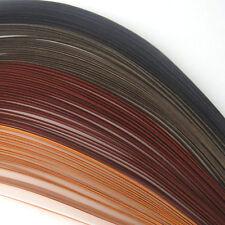 100 Quilling Autoadesivo Carta strisce in tonalità di marrone-Larghezza 3mm