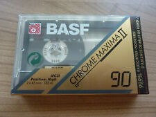 BASF Chrome Maxima II 90 audiokassette cassette audio tape sealed