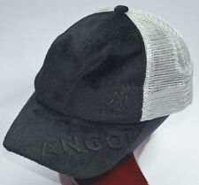 KANGOL BLACK FAUX FUR TRUCKER MENS HAT BASEBALL CAP SIZE 56 SNAPBACK MOO634  NEW e241780db88