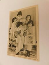 VINTAGE THE DIONNE QUINTUPLETS WITH DR. DATOE POSTCARD