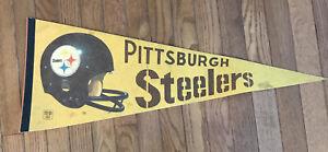 Vintage 1970s Pittsburgh Steelers Pennant