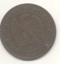 2 CENTIMES 1855 A + 2 CENTIMES 1856 B ROUEN ANCRE NAPOLEON III