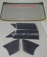 1966 1967 CHEVELLE CONVERTIBLE NEW WINDSHIELD VENTS DOOR QUARTERS ALL GREY TINT