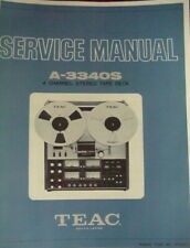 TEAC A-3340S TAPE DECK SERVICE MANUAL 52 Pages