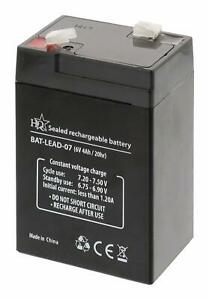 6V 4Ah Universal Sealed Rechargeable Lead Acid Battery - No Spill Toys Cars