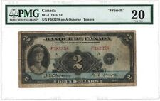 Bank of Canada BC-4 1935 $2 FRENCH TEXT PMG 20